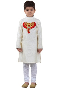 white-brocade-kurta-with-churidar-pants