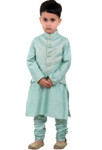 green-brocade-jacket-with-kurta-churidar