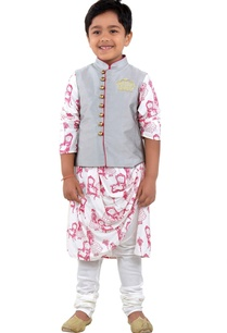grey-nehru-jacket-kurta-set