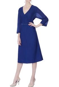 blue-pintucked-shirt-dress