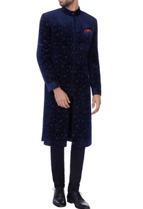 navy-blue-floral-embroidered-sherwani