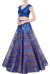 blue-sequin-blouse-flared-lehenga