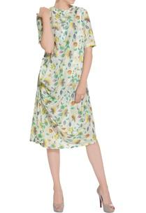 multicolored-draped-style-short-dress