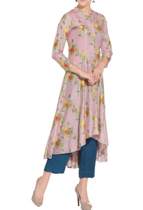 lilac-thai-silk-flared-kurta