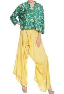 green-peplum-kurta-pants