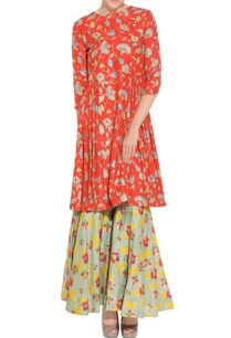 red-floral-kurta-sharara-pants