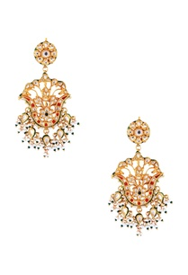 multi-colored-kundan-tulip-earrings