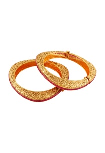 gold-ruby-triangle-bangles