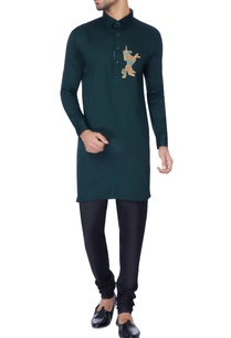 navy-blue-embroidered-classic-kurta