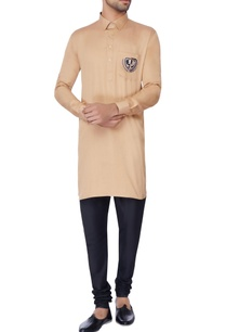 beige-embroidered-classic-kurta