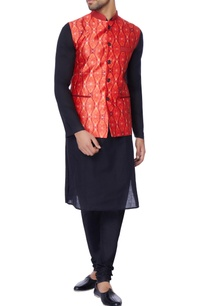 red-printed-nehru-jacket