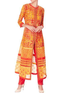 yellow-printed-kurta-set