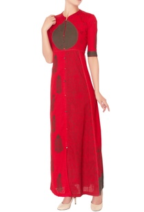 red-block-print-maxi-dress