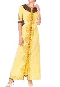 yellow-block-print-maxi-dress