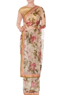 white-floral-sari-with-unstitched-blouse