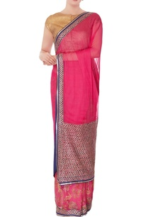 pink-embroidered-sari-with-unstitched-blouse