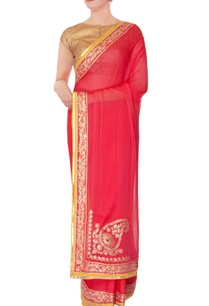 pink-chiffon-sari-with-unstitched-blouse