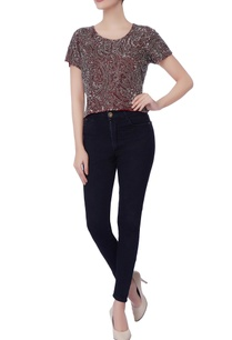 maroon-cutdana-work-blouse