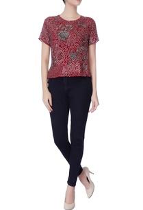 maroon-georgette-silk-blouse