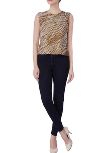 champagne-gold-blue-cutdana-work-blouse