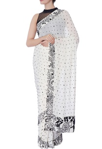 ivory-sari-with-black-pearl-work