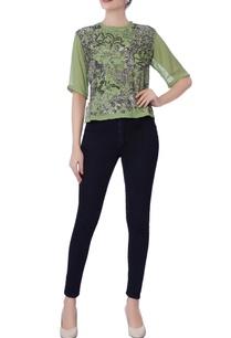 green-sequin-embellished-blouse