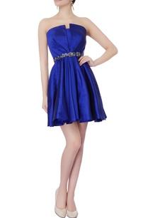 royal-blue-tafetta-silk-dress