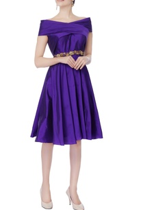 purple-taffeta-silk-off-shoulder-dress