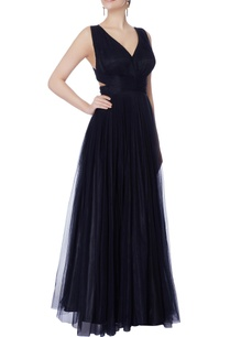 black-net-cutout-cross-over-back-gown