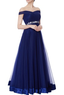 midnight-blue-net-bias-cut-gown