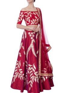 rasberry-pink-silk-lehenga-set