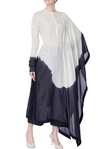 black-white-dyed-asymmetric-kurta