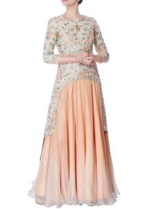 beige-resham-embroidered-kurta-lehenga
