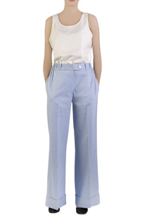 blue-cotton-spandex-flared-pants