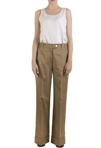 beige-flared-cotton-palazzos