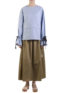 blue-oversized-top-with-flared-sleeves