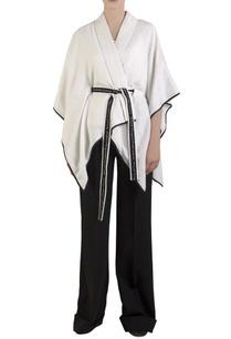 white-lurex-poncho-with-belt