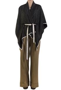 black-poncho-with-self-tie-belt