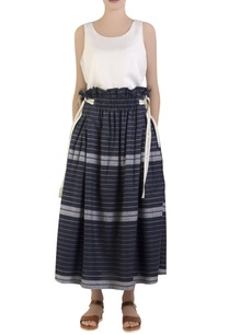 blue-stripe-skirt-with-tie-up-straps