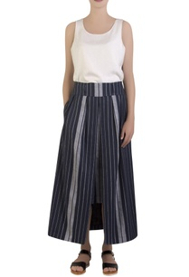 blue-front-slit-maxi-skirt