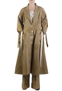 khaki-brown-flared-overcoat