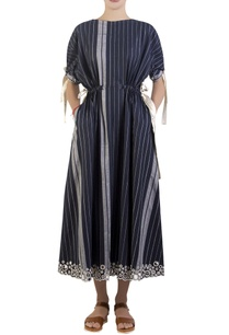 blue-dress-with-statement-tie-up-drawstrings