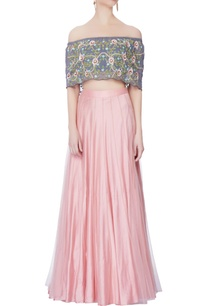 rose-pink-lehenga-off-shoulder-blouse