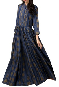 blue-denim-printed-maxi-kurta