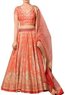 peach-dupion-silk-bridal-lehenga-set