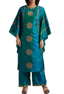 blue-green-ombre-kurta-with-pants
