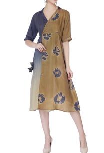 brown-grey-wrap-around-hand-dyed-dress