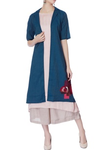 blue-silk-jacket-with-peach-kurta-palazzos