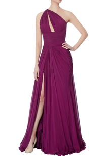 purple-one-shoulder-chiffon-gown
