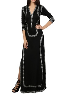 black-sequin-work-kaftan